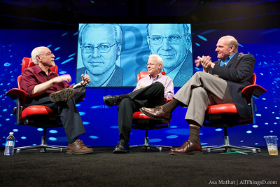 Walt Mossberg with Ray Ozzie and Steve Ballmer from Microsoft.