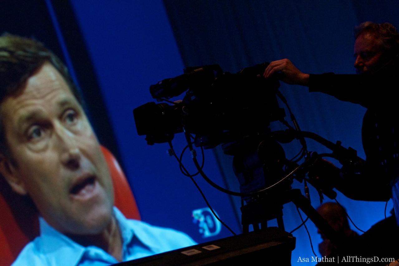 Videotaping the Steve Burke interview.