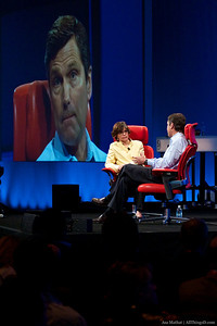 Comcast COO Steve Burke with All Things Digital's Kara Swisher.