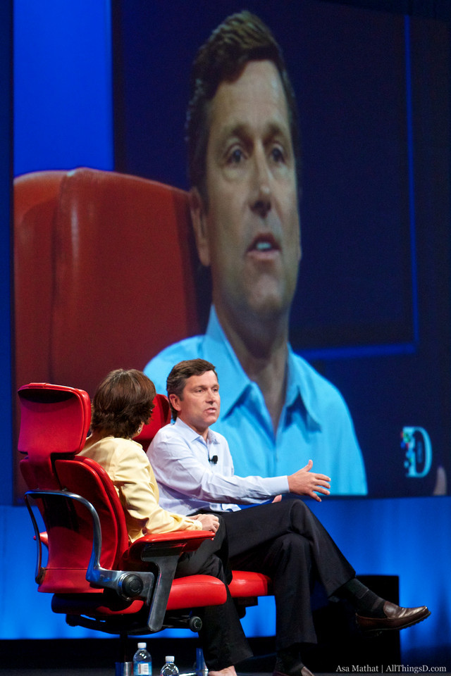 Steve Burke answers questions at the end of his session with Kara Swisher.