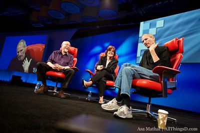 Steve Jobs during the Q&A.