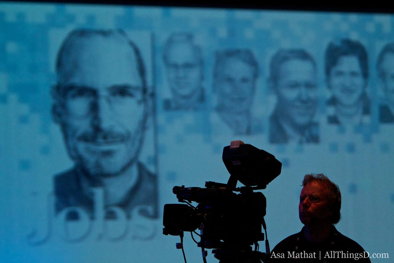 Videotaping the Steve Jobs session during D8.