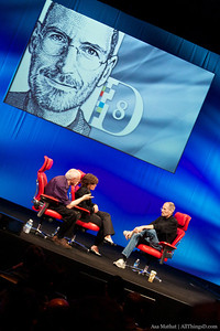 Steve Jobs kicks off the eight annual D: All Things Digital conference.