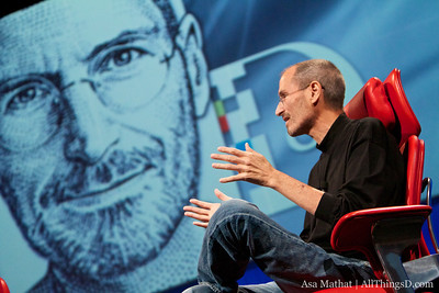 Steve Jobs is back at D for the first time since D5 in 2007.