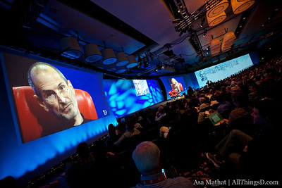 The view from one end of the stage during Steve Jobs' interview at D8.