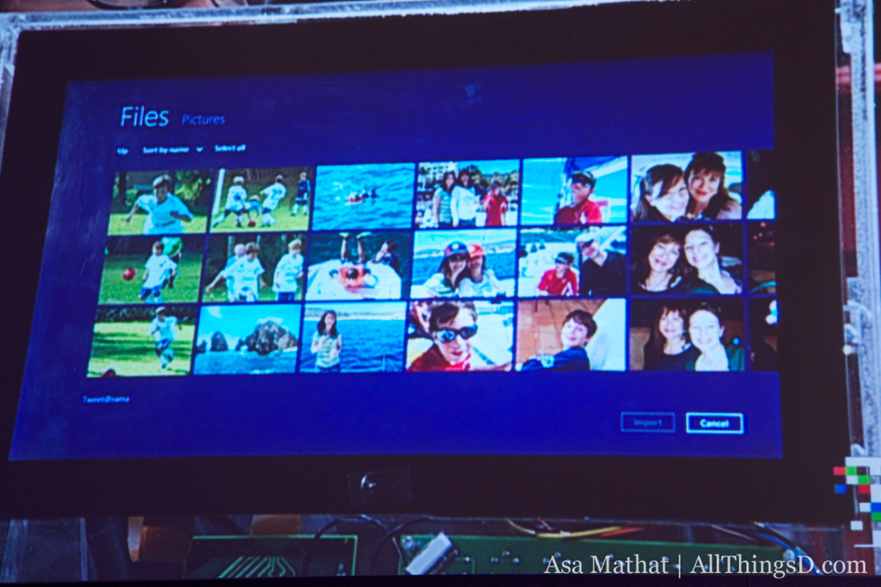 Access your files in a graphical and touch-manner on Windows 8.