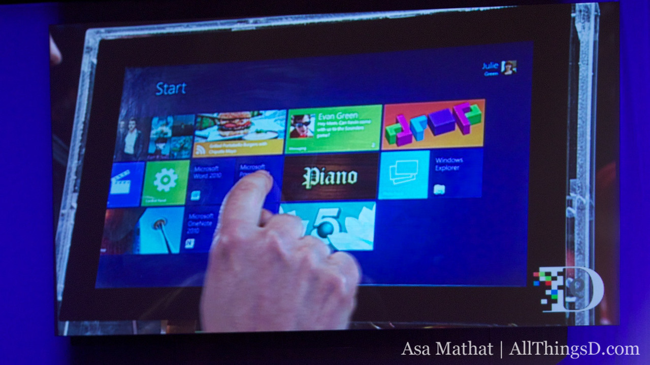 The new Windows 8 Start screen.