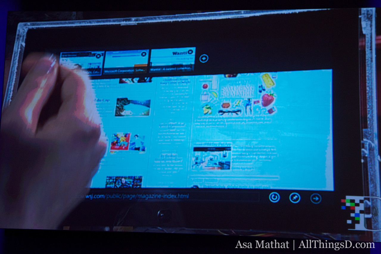 Internet Explorer 10 is touch-enabled on Windows 8.