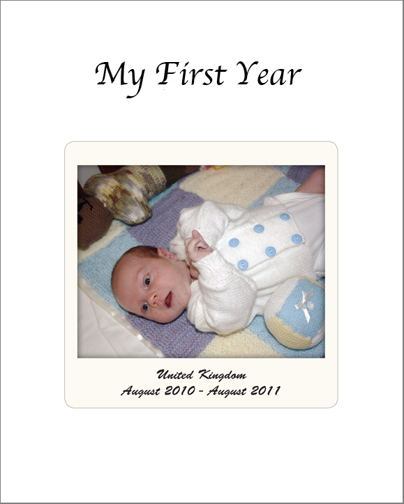 Logans First Year Blurb Cover.indd