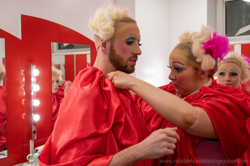 """Thick & Tight present Romancing The Apocalypse, at The Quays Theatre, The Lowry, Salford, on Monday 17th February 2020:  Pink Narcissus - Daniel Hay-Gordon and Eleanor Perry with students from Edge Hill University.  Picture by  <a href=""""http://www.nickfairhurstphotographer.com"""">http://www.nickfairhurstphotographer.com</a>"""