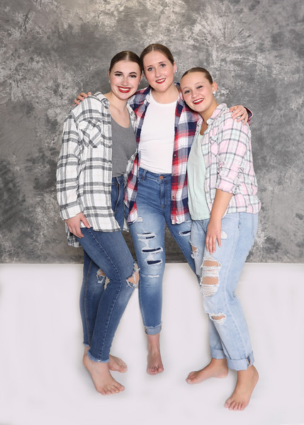 senior flannel trio