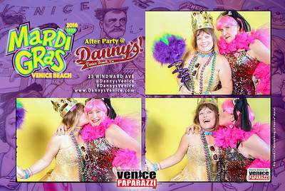 Venice Beach Mardi Gras After Party at Danny's.  www.DannysVenice.com.  Photo booth by VenicePaparazzi.com