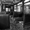 Dortmund tram c.1930, passenger compartment (b/w)