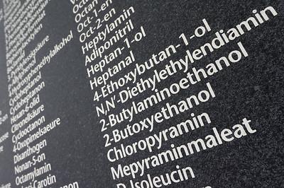 Wallpaper listing hazardous substances