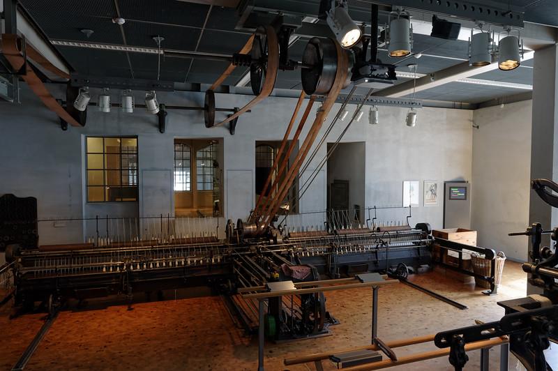 Belt-driven textile machine