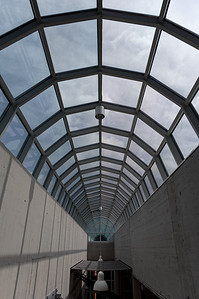 Vaulted glass roof at DASA