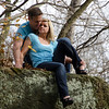 COUPLE ON A LEDGE