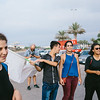 Reine (Lebanon), Ali (Syria),  Malika (France) on the Tripolis corniche.