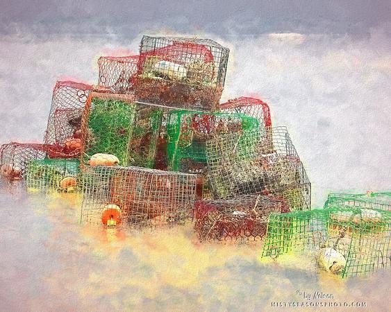 Crab Pots at Misty Dawn