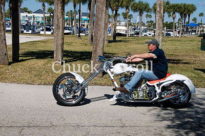 Miami Dolphins Bourget Motorcycle Daytona Bike Week - Friday March 6,  2009