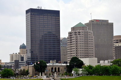 CLOSE UP OF DOWNTOWN DAYTON