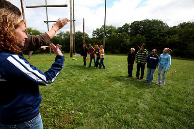 DODGEVILLE, WISCONSIN: Can't speak, can't look, can't see... you guess which group is which. More photos available at  http://discoverybound.org