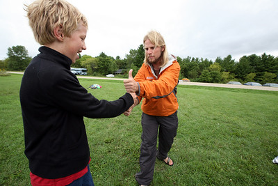 DODGEVILLE, WISCONSIN: Lumberjack buddies! More photos available at  http://discoverybound.org