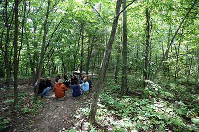 DODGEVILLE, WISCONSIN: Reflection in the woods. More photos available at http://discoverybound.org