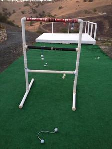 Close up of Ladder Golf