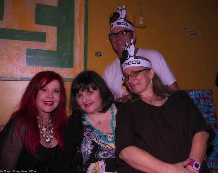 Kate Pierson (B52s), Vanessa Briscoe Hay  (Pylon), DB, and Anne Boston (Swimming Pool Qs)