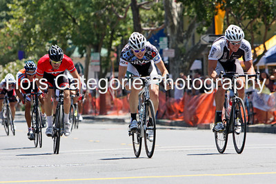 6841  Aaron Marchand, SSC/Riivo Racing,  wins the Elite 4 race in front of Tom Edwards, Sonoma State,  Alex Newcomb, Team City Sacramento, and Reginald Trimingham, Davis Bike Club Race Team