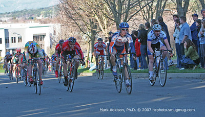 8963 Davis Bike Clubs Joe Iannarelli wins the field sprint for 5th place