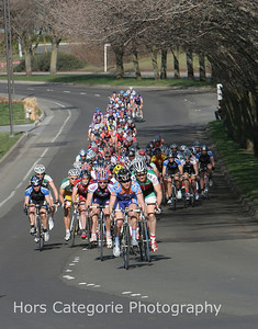 2760  Slipstream's Lucas Euser leads the peloton early in the race