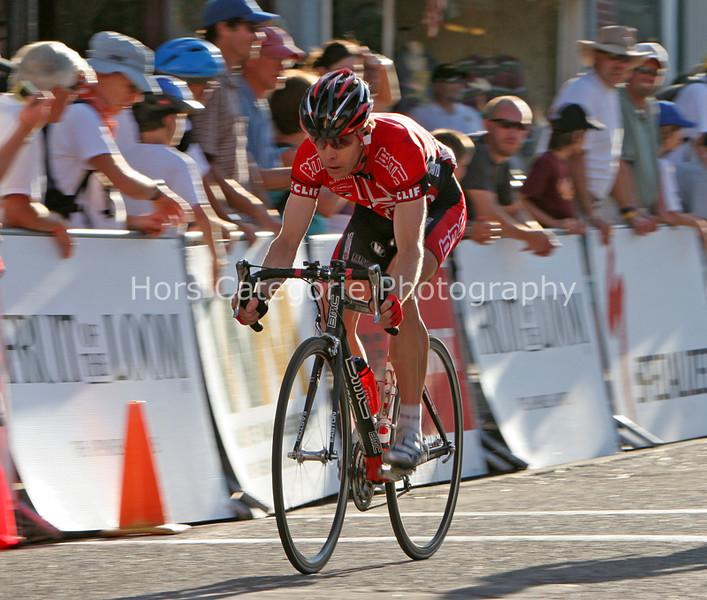 7727 BMC's Scott Moninger rolls across the line for second place