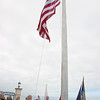 OCEAN CITY, NJ - MAY 31, 2021 - Ocean City held their Memorial Day Flag Raising Ceremony at the Music Pier, Monday morning at 8:50 AM. The flag raising will be at the same location and time thru September 11, 2021.<br />  Mike Caserta prepares to raise the flag. (Donald Kravitz)