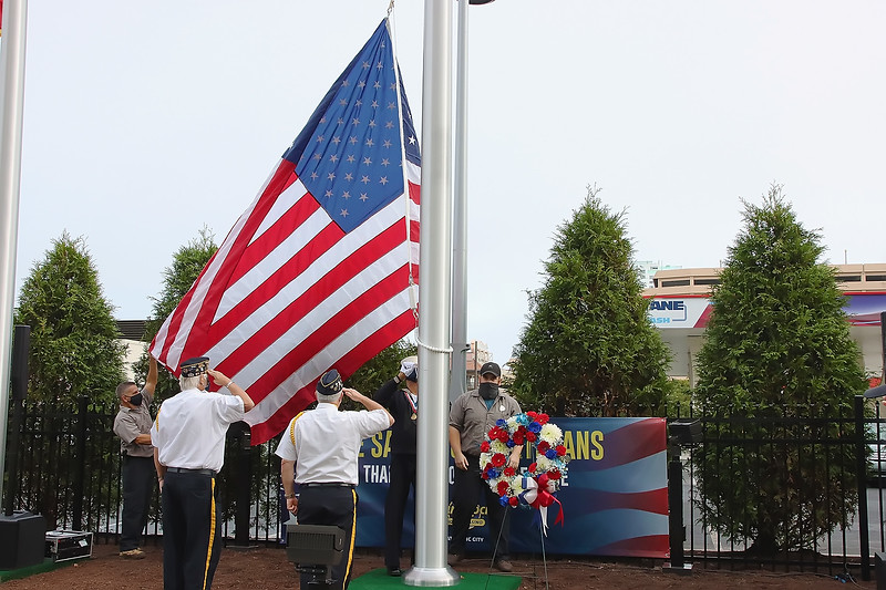 Flag Raising at Hard Rock Casino in Atlantic City