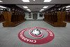 Football locker room in the Chicoine Center at Chadron State College. (Photo by Daniel Binkard/Chadron State College)
