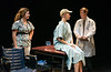 "Jada Fisk, left, plays nurse Susie Monahan in Chadron State College's production of ""Wit"" by Margaret Edson. Also pictured are Hannah Clark, as Dr. Vivian Bearing, and Nathan Wojciechowski, as Dr. Jason Posner. (Photo by Dewayne Gimeson/Chadron State College)"
