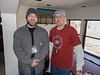 Daniel Binkard, left, with Craig Conway, led Chadron State College's broadcasting efforts starting in 2012. CSC Live covered many home athletic and other campus events. Conway and BInkard are pictured at the November 11, 2017, football game against Colorado State University-Pueblo. Con Marshall Press Box was torn down and rebuilt in 2017 and 2018 to better serve the college. (Photo by Alex Helmbrecht/Chadron State College)