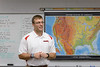 Michael Sandstrom teaches United States history at Chadron High School. (Photo by Daniel Binkard/Chadron State College)
