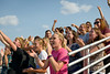 Students cheer at Beebe Stadium. (Photo by Dewayne Gimeson/Chadron State College)