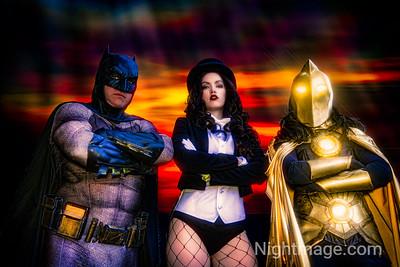 Batman, Dr Fate,  Zantanna