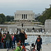 A ceremony was taking place here at the World War II memorial