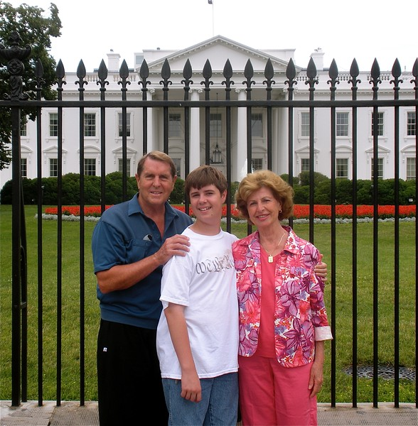 In front of the White House on Independence Day, Washington, DC 2008