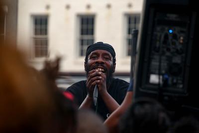 People in Washington, D.C. enjoy a go-go music festival on Juneteenth