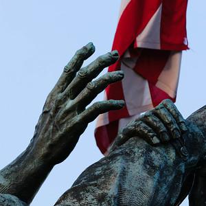 Iwo Jima hands