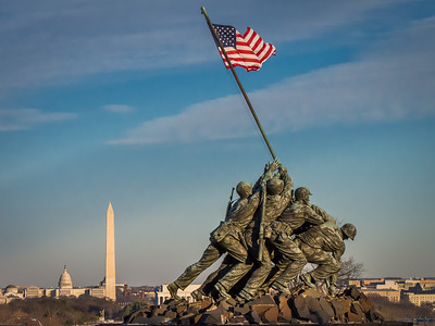 Iwo Jima looking over DC