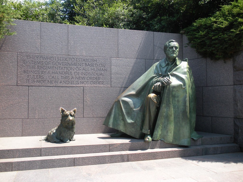 FDR Memorial on the banks of the Tidal Basin at Washington, DC