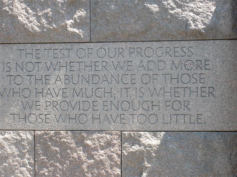 FDR Memorial on the banks of the Tidal Basin at Washington, DC