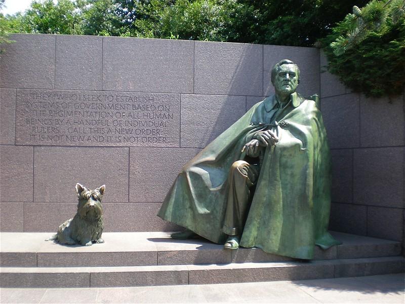 Fela and FDR at his Memorial